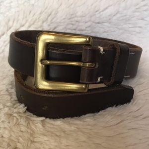 Brown Leather Belt - Sz 28